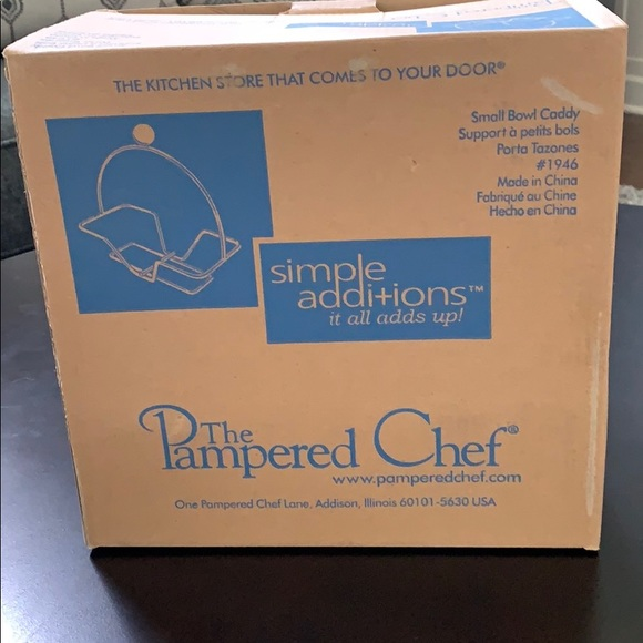 The Pampered Chef Simple Additions Small Bowl Caddy#1946 NEW,BOX OPENED FOR PICS